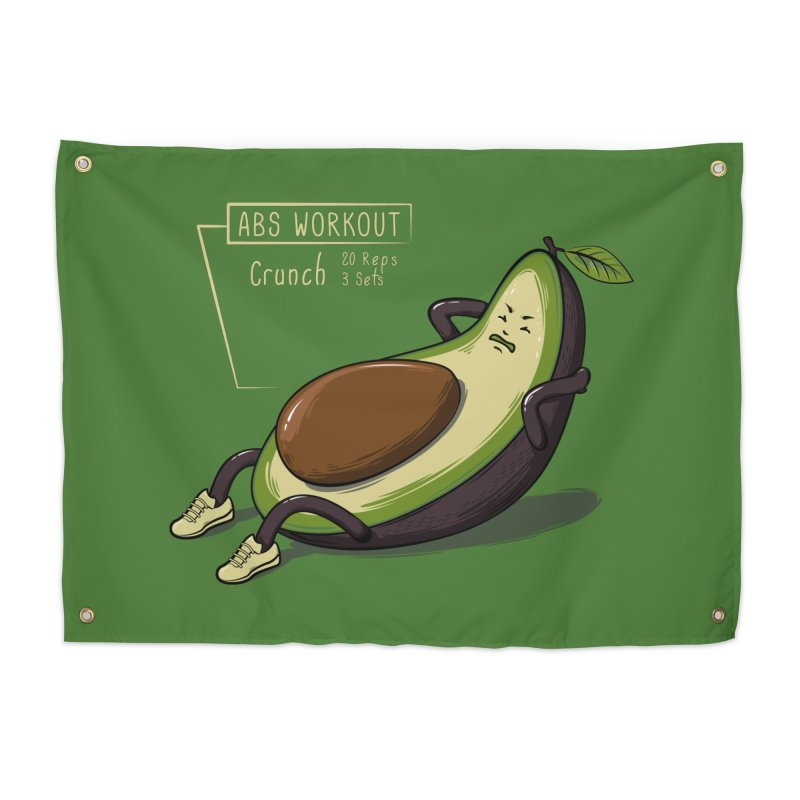AVOCADO CORE WORKOUT Home Tapestry by GED WORKS