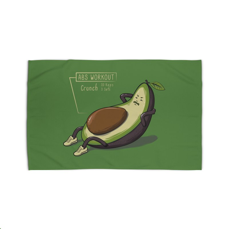 AVOCADO CORE WORKOUT Home Rug by GED WORKS