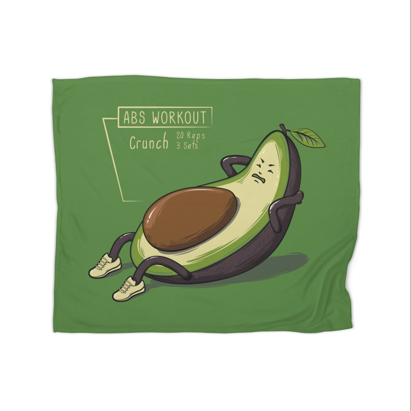 AVOCADO CORE WORKOUT Home Blanket by GED WORKS