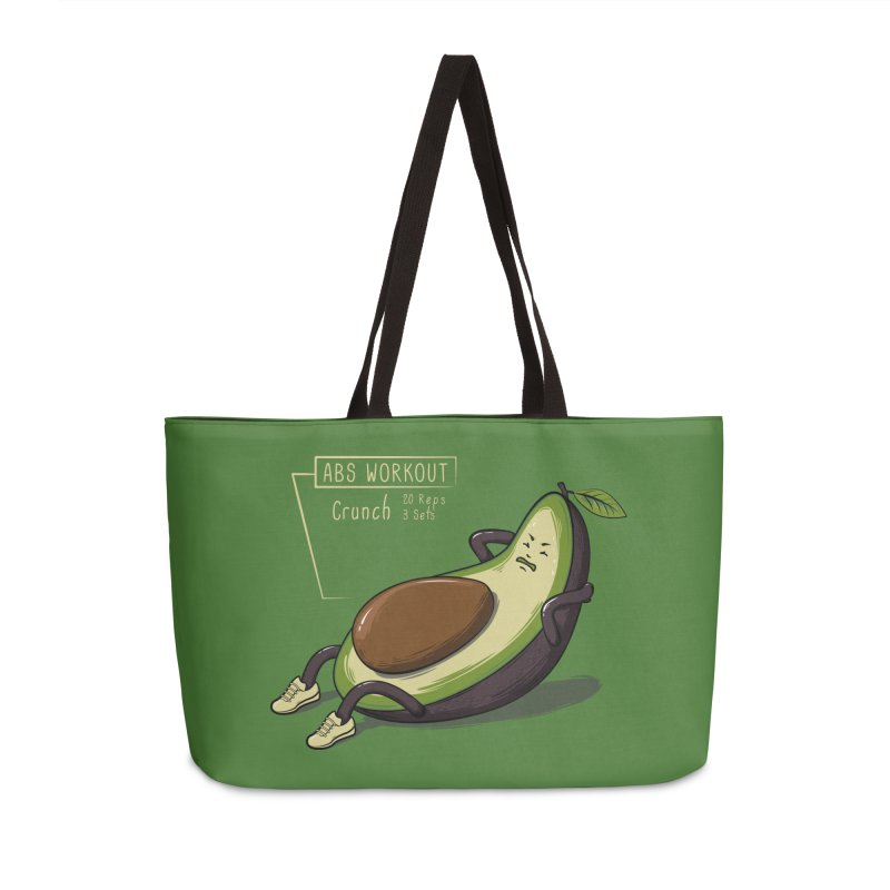 AVOCADO CORE WORKOUT Accessories Weekender Bag Bag by GED WORKS