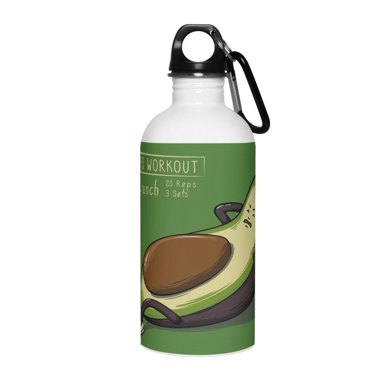 AVOCADO CORE WORKOUT Accessories Water Bottle by GED WORKS