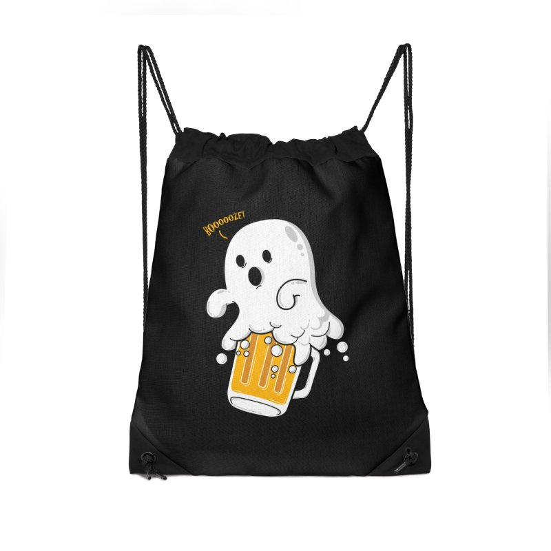 We Want Boooooze! Accessories Drawstring Bag Bag by GED WORKS