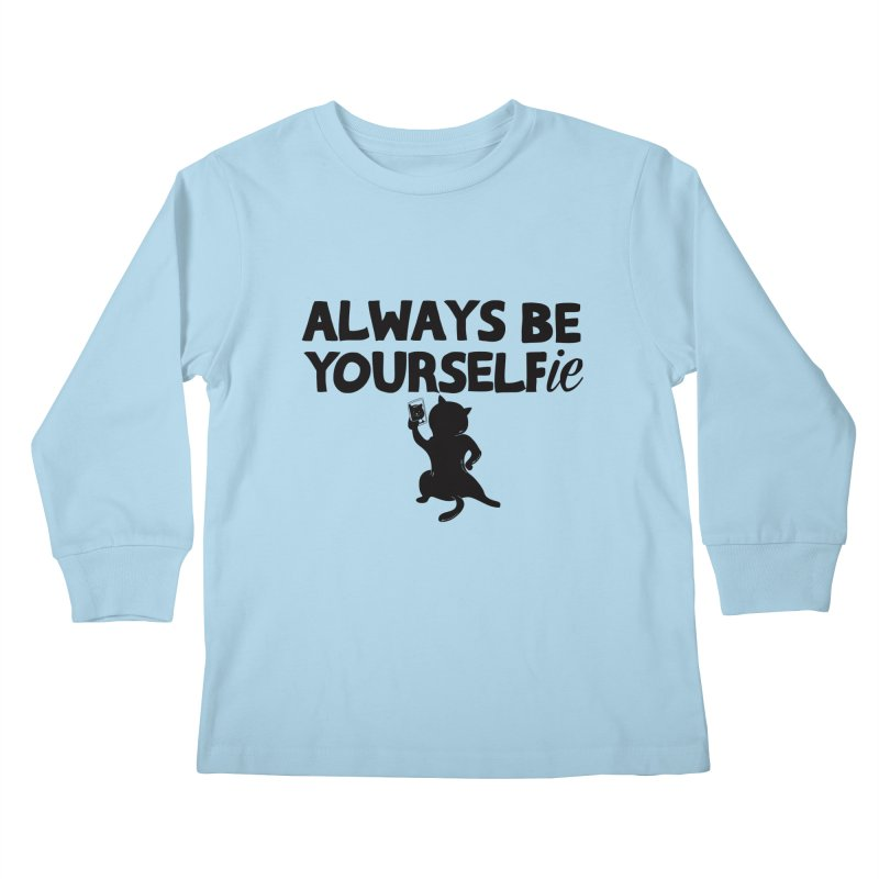 Be Yourselfie Kids Longsleeve T-Shirt by GED WORKS