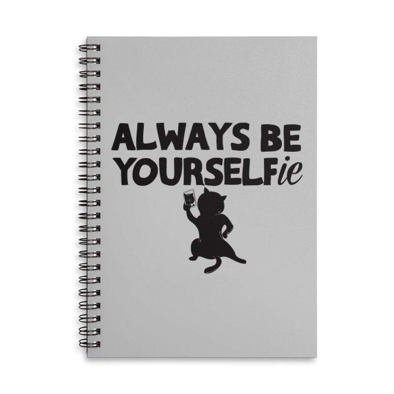 Be Yourselfie Accessories Lined Spiral Notebook by GED WORKS