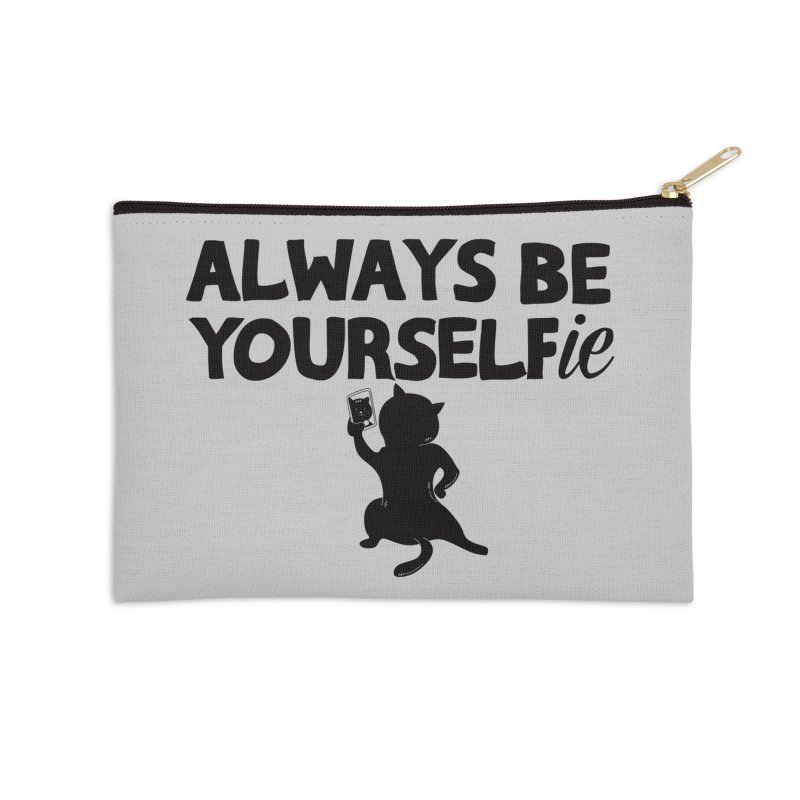 Be Yourselfie Accessories Zip Pouch by GED WORKS