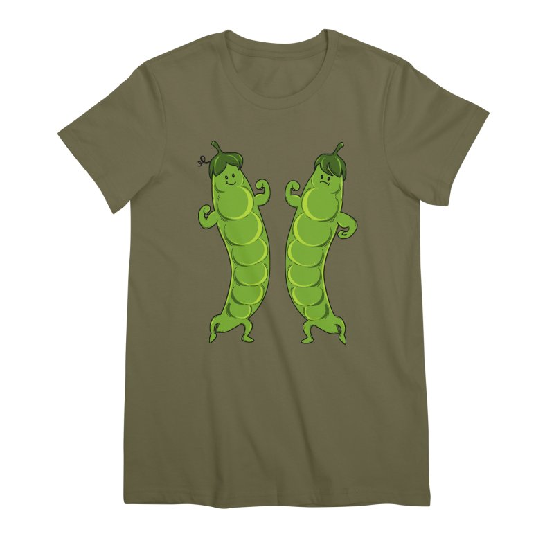 Peas Gymbuff Women's Premium T-Shirt by GED WORKS