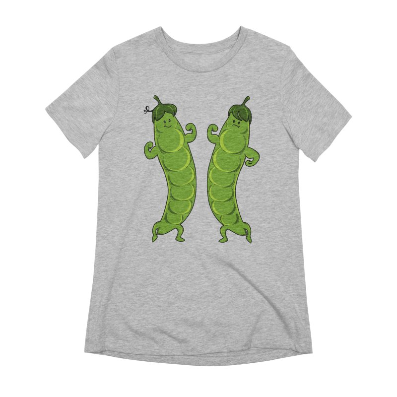 Peas Gymbuff Women's Extra Soft T-Shirt by GED WORKS