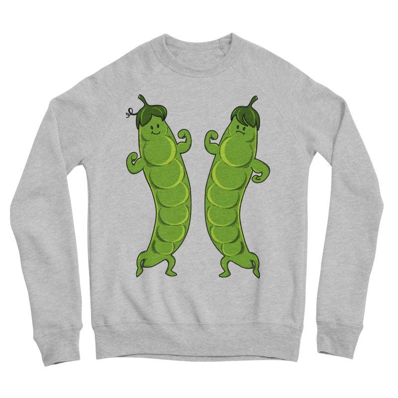 Peas Gymbuff Men's Sponge Fleece Sweatshirt by GED WORKS