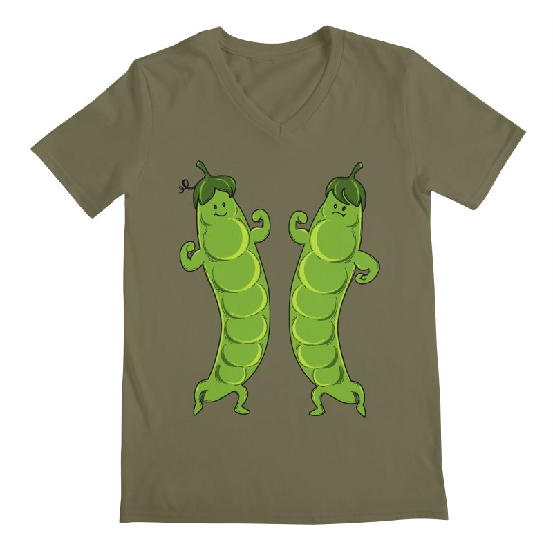 Peas Gymbuff Men's V-Neck by GED WORKS