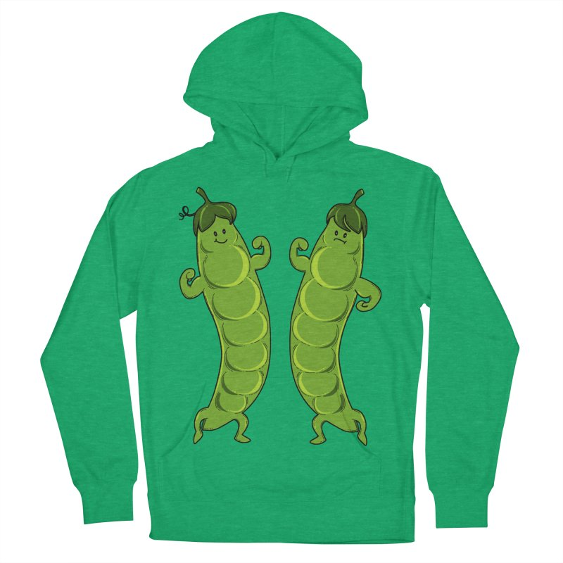 Peas Gymbuff Women's French Terry Pullover Hoody by GED WORKS
