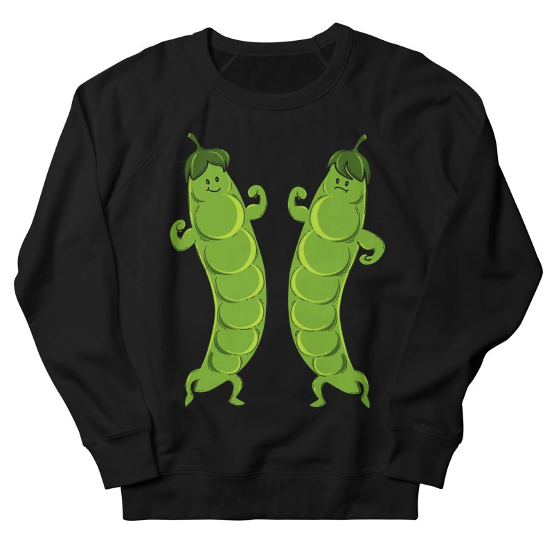 Peas Gymbuff Women's French Terry Sweatshirt by GED WORKS