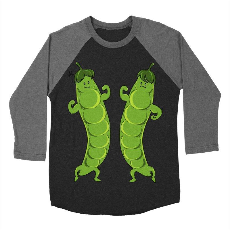 Peas Gymbuff Men's Baseball Triblend Longsleeve T-Shirt by GED WORKS