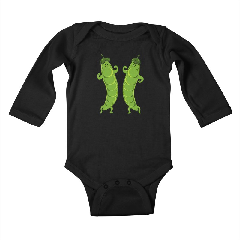 Peas Gymbuff Kids Baby Longsleeve Bodysuit by GED WORKS