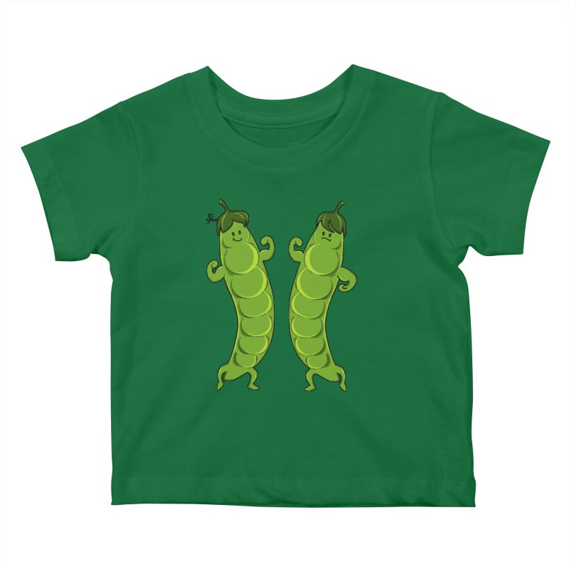 Peas Gymbuff Kids Baby T-Shirt by GED WORKS