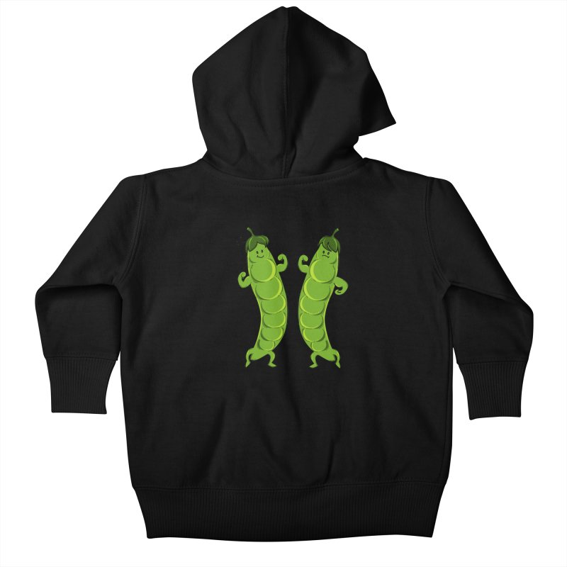 Peas Gymbuff Kids Baby Zip-Up Hoody by GED WORKS
