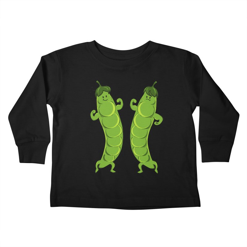 Peas Gymbuff Kids Toddler Longsleeve T-Shirt by GED WORKS