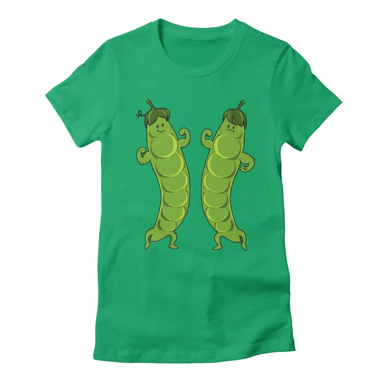 Peas Gymbuff Women's Fitted T-Shirt by GED WORKS