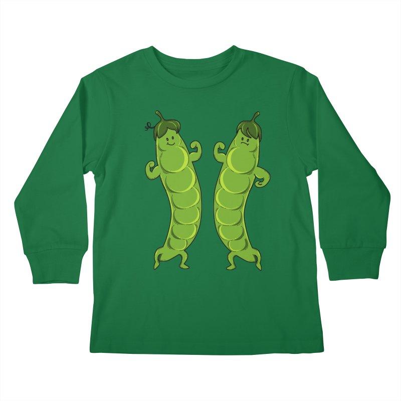 Peas Gymbuff Kids Longsleeve T-Shirt by GED WORKS