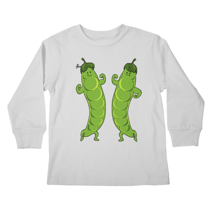 Peas Gymbuff Kids Longsleeve T-Shirt by GED WORKS