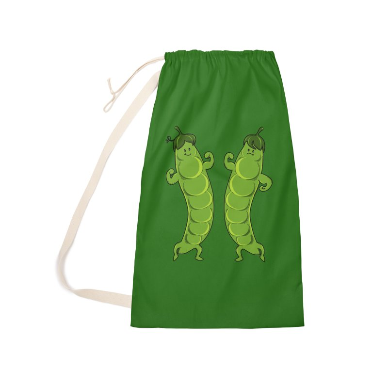Peas Gymbuff Accessories Laundry Bag Bag by GED WORKS