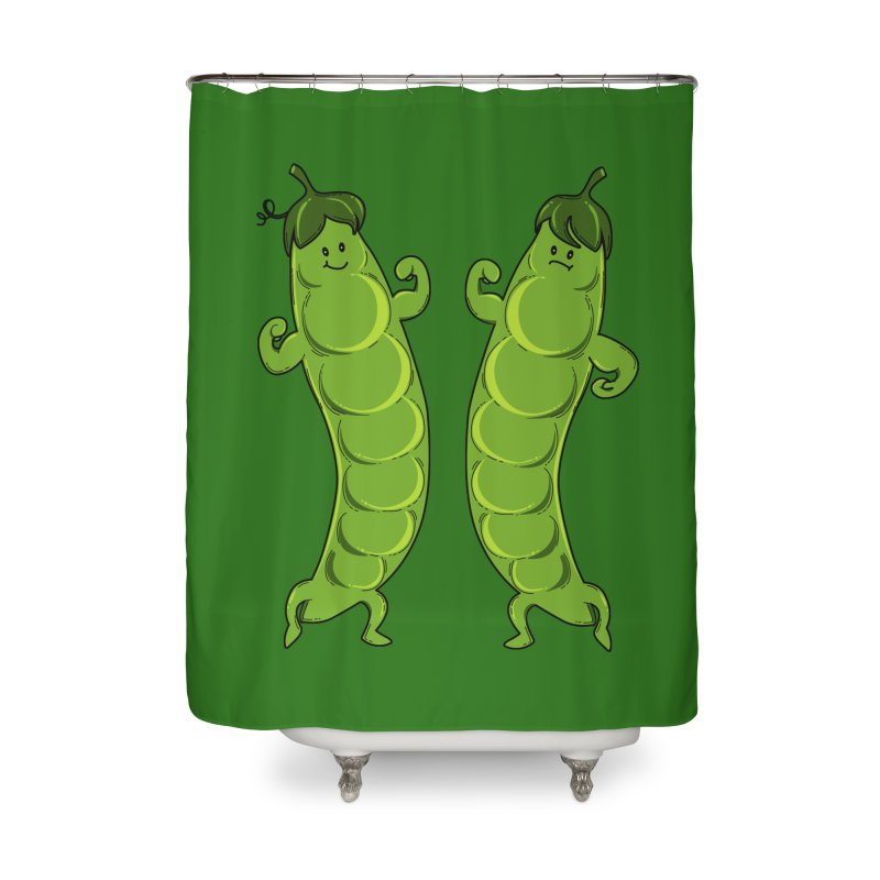 Peas Gymbuff Home Shower Curtain by GED WORKS