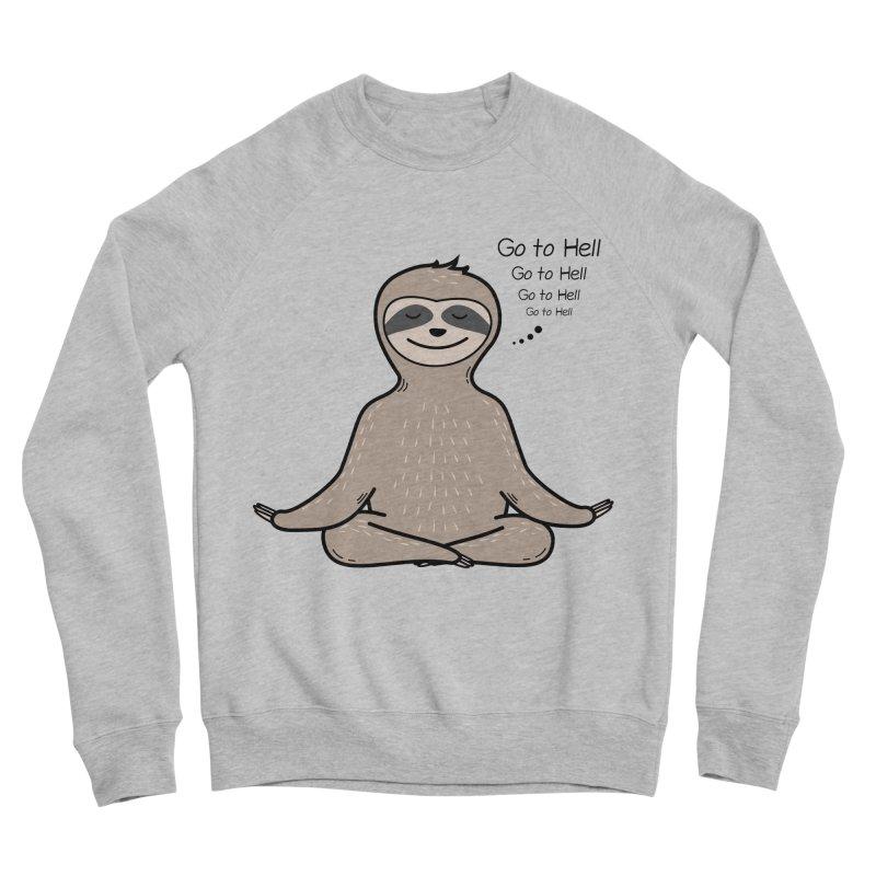 Sloth Meditation Men's Sponge Fleece Sweatshirt by GED WORKS