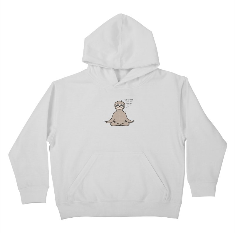 Sloth Meditation Kids Pullover Hoody by GED WORKS