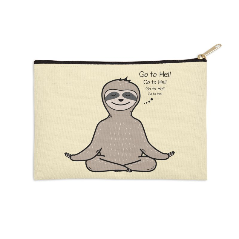 Sloth Meditation Accessories Zip Pouch by GED WORKS