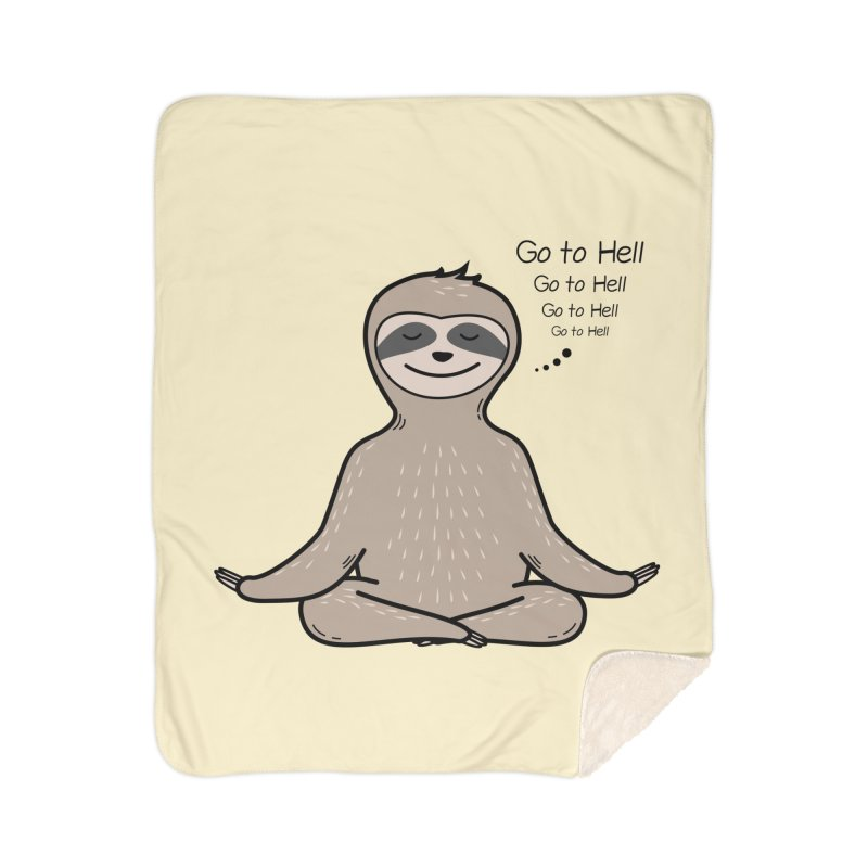 Sloth Meditation Home Sherpa Blanket Blanket by GED WORKS
