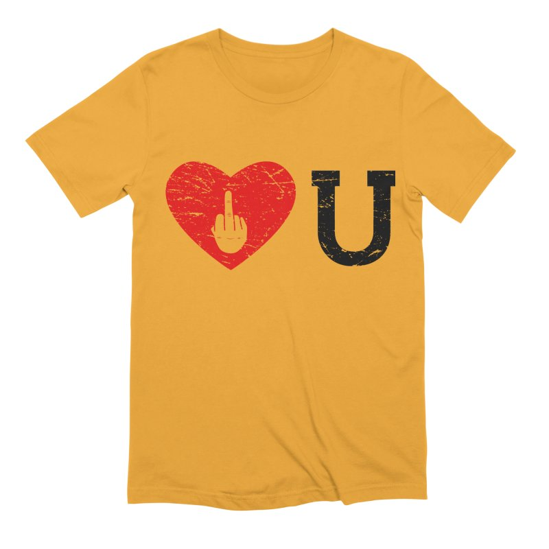 Love You Men's Extra Soft T-Shirt by GED WORKS