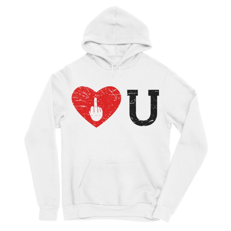 Love You Men's Sponge Fleece Pullover Hoody by GED WORKS