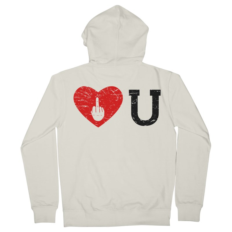 Love You Men's French Terry Zip-Up Hoody by GED WORKS