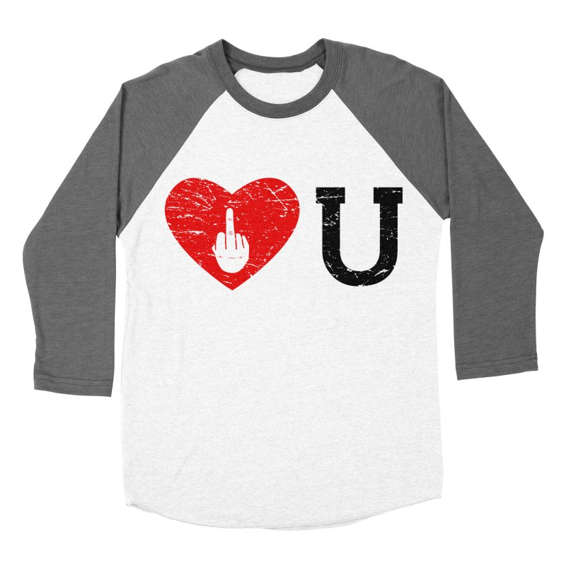 Love You Men's Baseball Triblend Longsleeve T-Shirt by GED WORKS