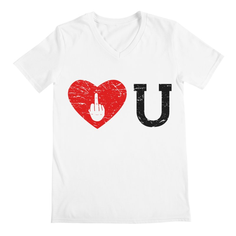 Love You Men's Regular V-Neck by GED WORKS
