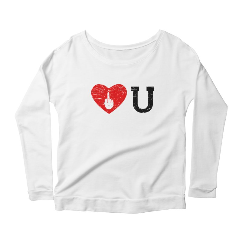 Love You Women's Scoop Neck Longsleeve T-Shirt by GED WORKS