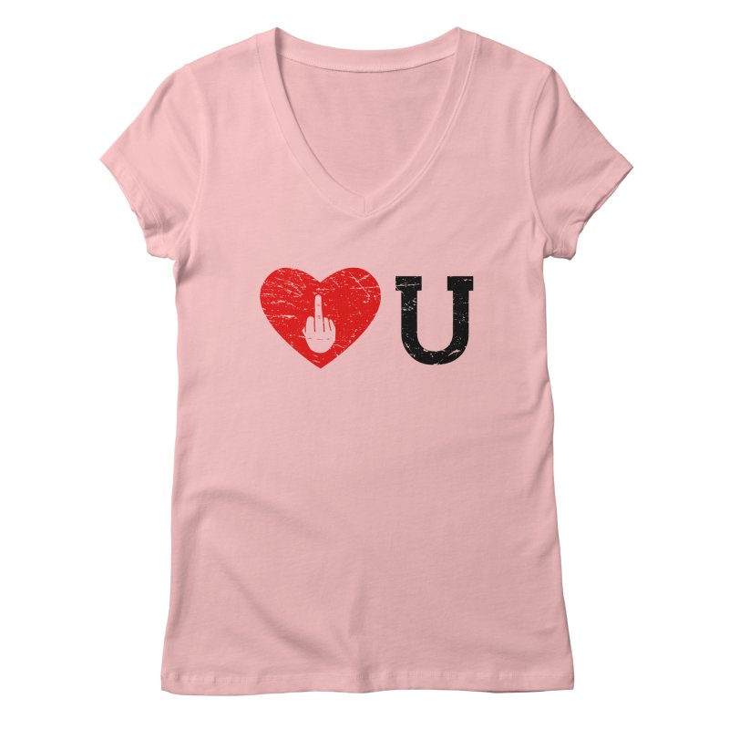 Love You Women's Regular V-Neck by GED WORKS