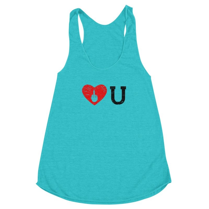 Love You Women's Racerback Triblend Tank by GED WORKS