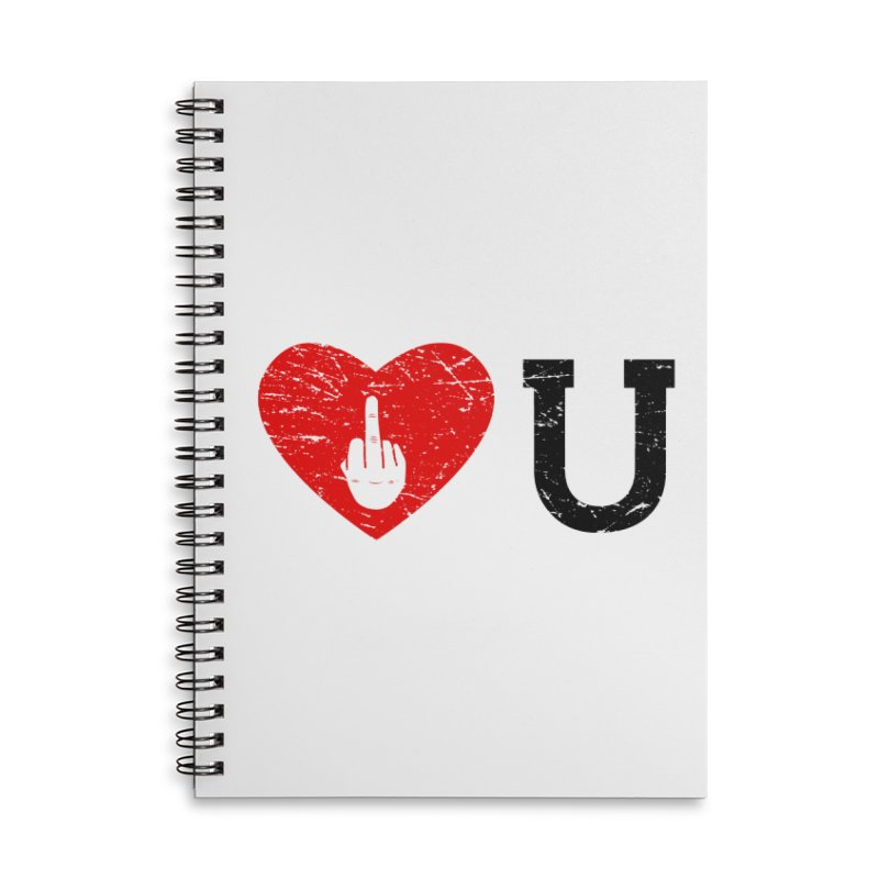 Love You Accessories Lined Spiral Notebook by GED WORKS