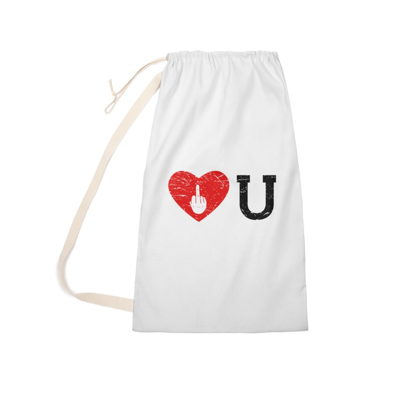 Love You Accessories Laundry Bag Bag by GED WORKS