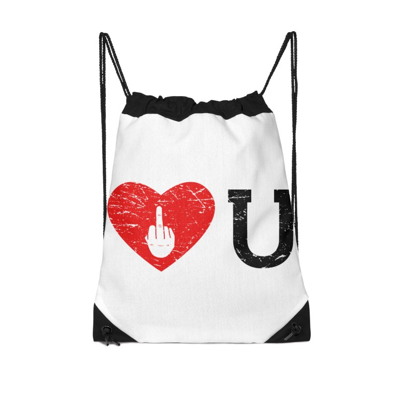 Love You Accessories Drawstring Bag Bag by GED WORKS