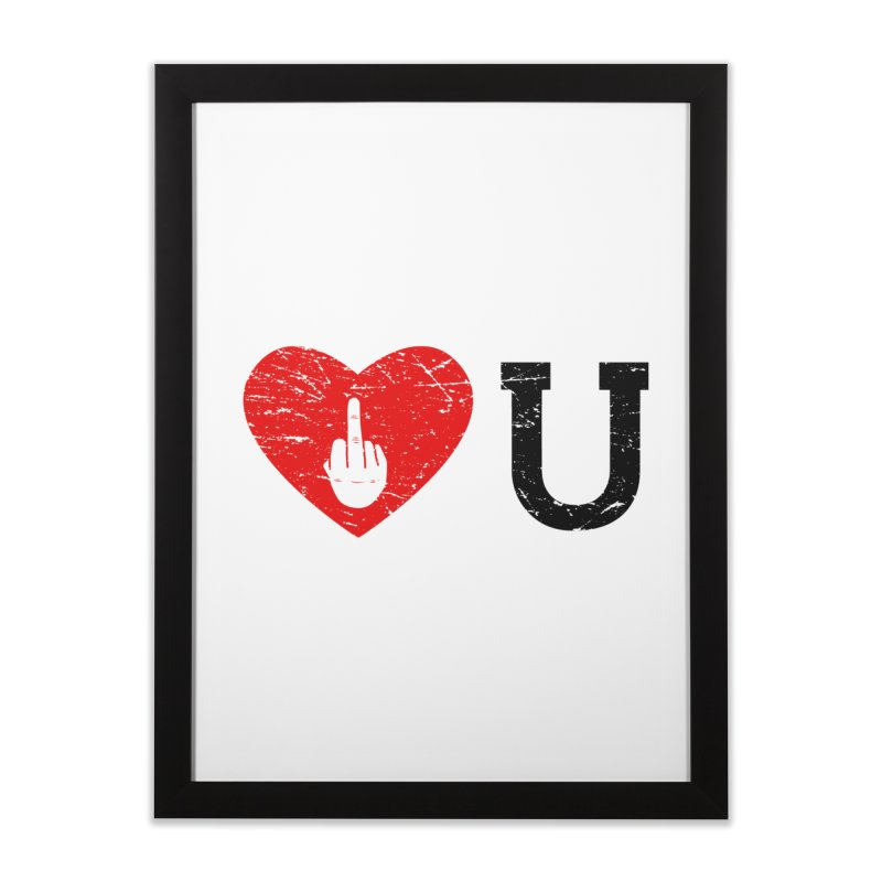 Love You Home Framed Fine Art Print by GED WORKS