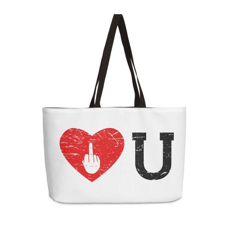 Love You Accessories Weekender Bag Bag by GED WORKS