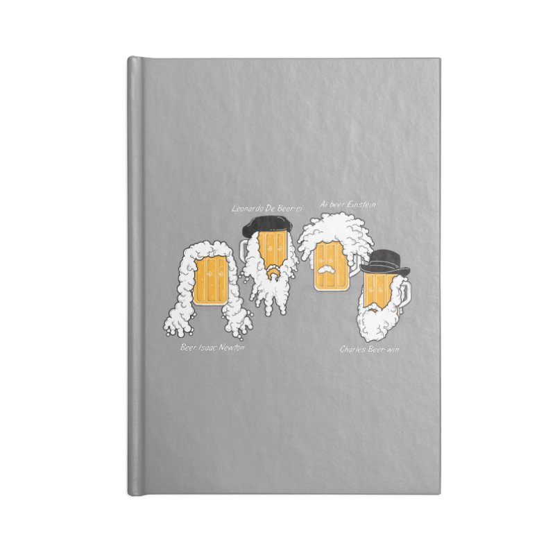 Beer Mates Happy Hour Accessories Blank Journal Notebook by GED WORKS