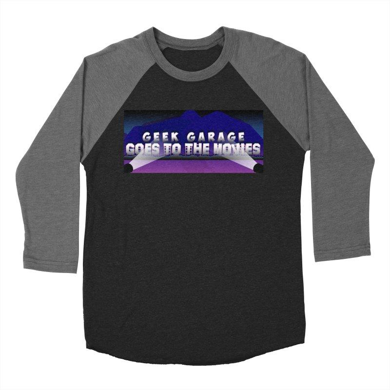 Geek Garage Goes to the Movies Men's Baseball Triblend Longsleeve T-Shirt by Geek Garage Podcast's Artist Shop