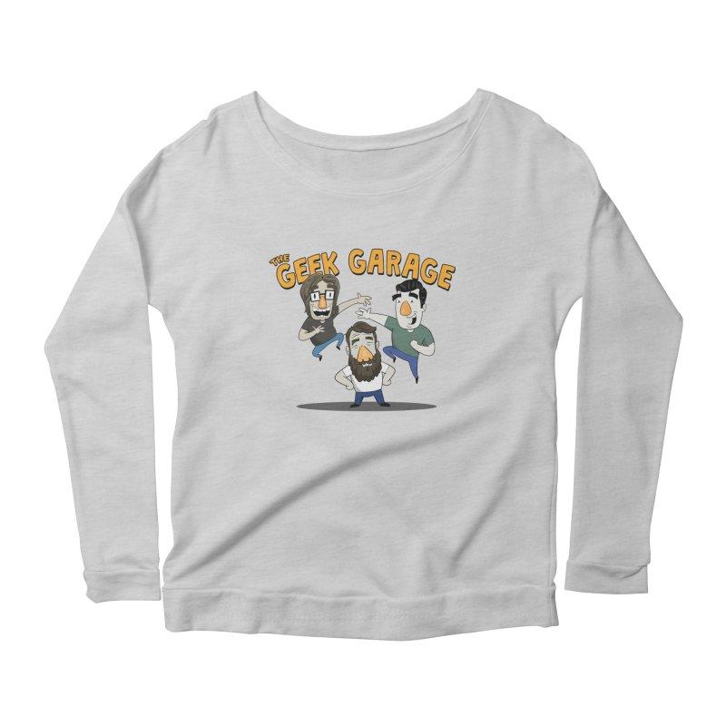 Original Podcast Logo Women's Scoop Neck Longsleeve T-Shirt by Geek Garage Podcast's Artist Shop