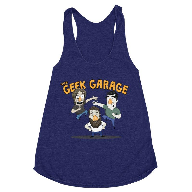 Original Podcast Logo Women's Racerback Triblend Tank by geekgaragepodcast's Artist Shop