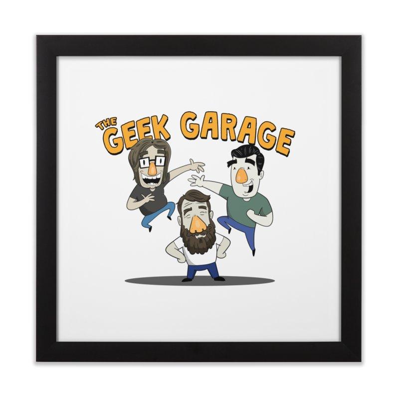 Original Podcast Logo Home Framed Fine Art Print by geekgaragepodcast's Artist Shop