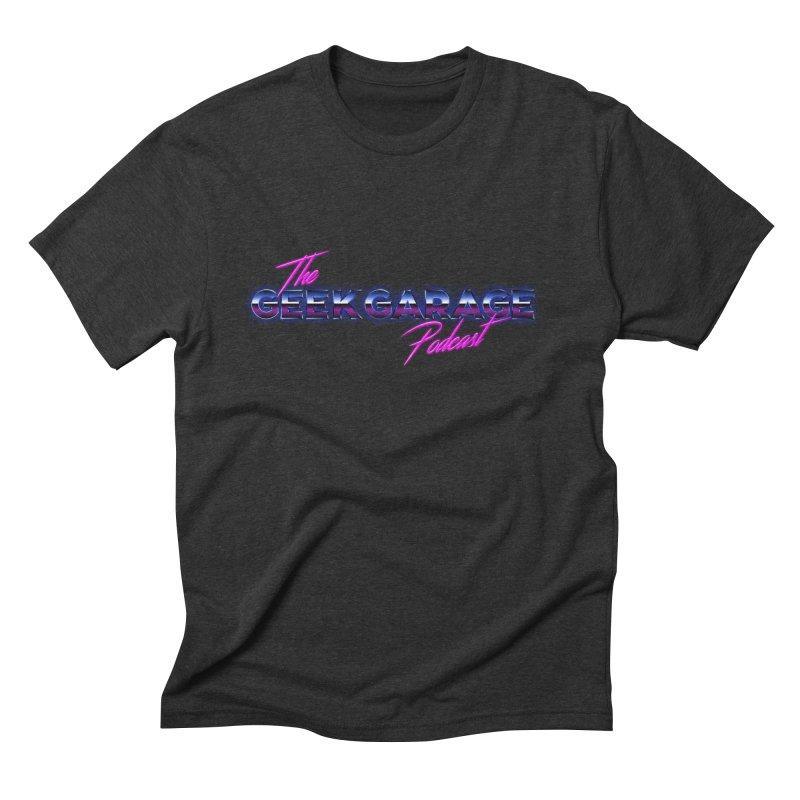Retro Logo Men's Triblend T-Shirt by geekgaragepodcast's Artist Shop
