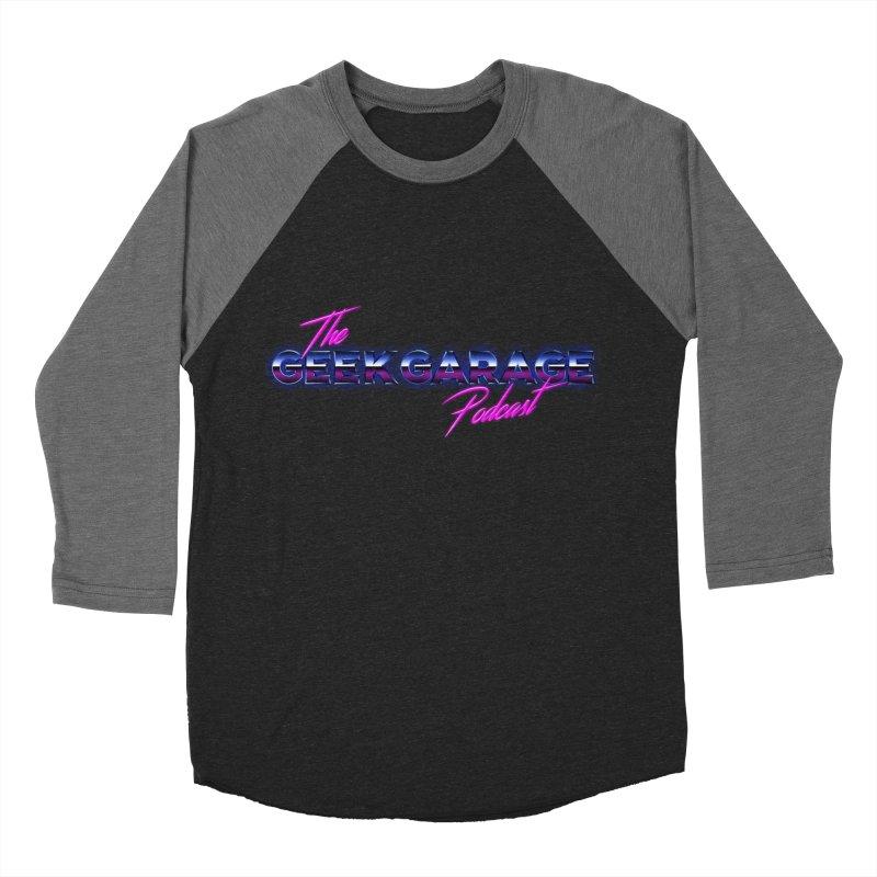 Retro Logo Men's Baseball Triblend Longsleeve T-Shirt by Geek Garage Podcast's Artist Shop