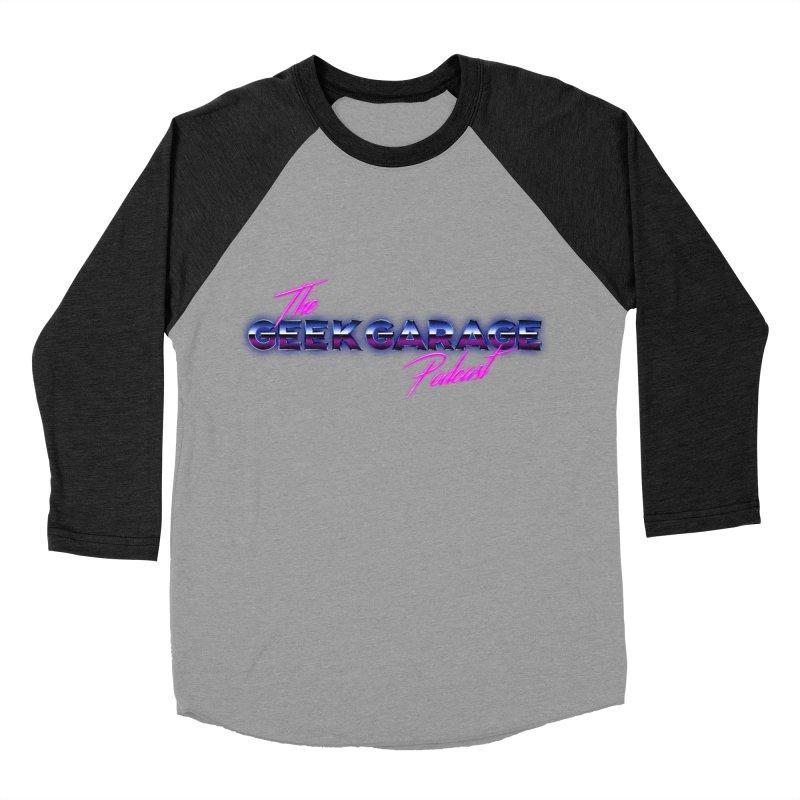 Retro Logo Men's Baseball Triblend Longsleeve T-Shirt by geekgaragepodcast's Artist Shop